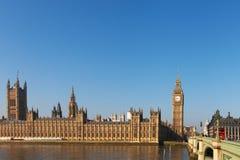 Parlamentsgebäude in London, vereinigter Stamm Lizenzfreie Stockfotos