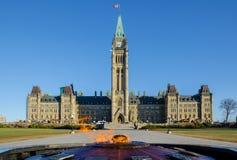 Parlamentsgebäude in Ottawa, Kanada Stockbild