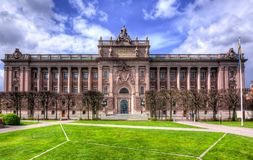 Parlamentsgebäude Riksdag, Stockholm, Schweden Stockfotos