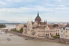 Parlamentsgebäude - Ungarn Stockbild