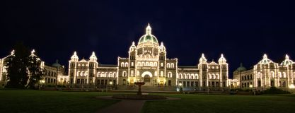 Parlamentsgebäude in Victoria BC Kanada stockfotos
