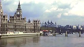 Parlamentspalast von Westminster in London stock video footage