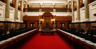 Parlamentsraum Stockfotografie