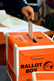 2014 Parlamentswahl - Wahlen Neuseeland Lizenzfreies Stockfoto