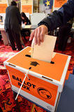 2014 Parlamentswahl - Wahlen Neuseeland Stockfotos