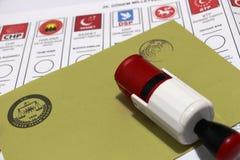 Parlamentswahlen in der Türkei, 2015 Lizenzfreie Stockfotos