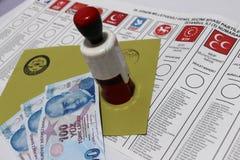 Parlamentswahlen in der Türkei, 2015 Stockfotografie