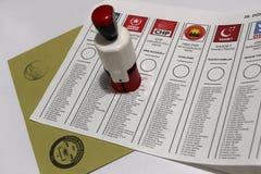 Parlamentswahlen in der Türkei, 2015 Stockfotos