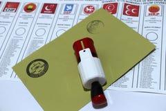 Parlamentswahlen in der Türkei, 2015 Stockbild