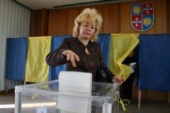 Parlamentswahlen von Ukraine Stockfotos