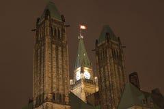 Parlamentu budynek góruje, Ottawa, Kanada fotografia stock