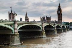 Parlamentu budynek Londyn Anglia i Big Ben Fotografia Royalty Free