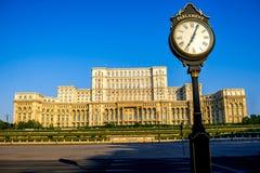 Parlamentu budynek w Bucharest Obrazy Stock