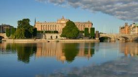 Parlamentu dom W Sztokholm Szwecja zdjęcie wideo