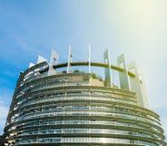 Parlamentu Europejskiego budynek w Francja Obrazy Royalty Free