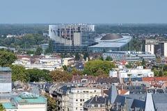 Parlamentu Europejskiego budynek w Strasburg, Francja Fotografia Royalty Free