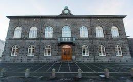 Parlamentu Narodowego budynek, Reykjavik, Iceland Zdjęcia Royalty Free