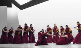 Parlando ` di Cangyangjiacuo di dramma di ballo di scolasticismo- `` Fotografia Stock Libera da Diritti