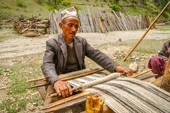 Parlando e lavoratore nel Nepal Fotografia Stock Libera da Diritti