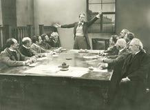 Parlare al comitato immagine stock