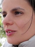 Parlare della donna Immagini Stock Libere da Diritti