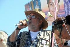 Parlare di Javier Sicilia dell'attivista Fotografia Stock Libera da Diritti