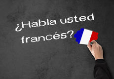 Parlate francese Immagini Stock