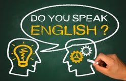 Parlate inglese fotografia stock