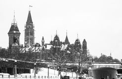 Parlement canadien à Ottawa Image stock