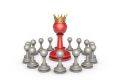 Parlementaire verkiezingen of de politieke elite (schaakmetafoor) royalty-vrije illustratie