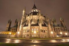 Parlementsgebouw bij nacht, Ottawa, Canada Stock Afbeelding
