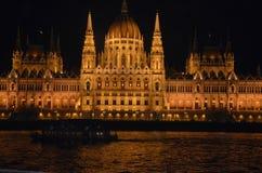 Parlementsgebouw in Boedapest Stock Afbeelding