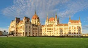Parlementsgebouw in Boedapest, panorama royalty-vrije stock fotografie