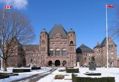 Parlementsgebouw in de winter Stock Afbeelding