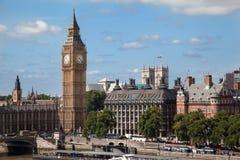 Parlementsgebouw en de Big Ben Londen Engeland Stock Foto's