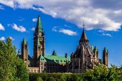 Parlementsgebouw in Ottawa Stock Fotografie