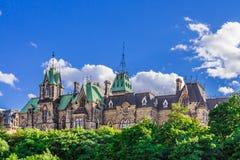 Parlementsgebouw in Ottawa Stock Foto's