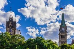 Parlementsgebouw in Ottawa Royalty-vrije Stock Fotografie