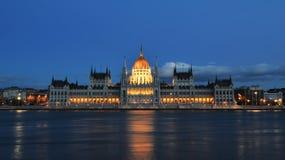 Parlementsgebouw van Boedapest Stock Foto