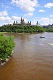 Parlementsgebouwen en Bibliotheek, Ottawa Royalty-vrije Stock Foto