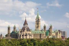 Parlementsgebouwen in Ottawa Ontario Royalty-vrije Stock Afbeelding