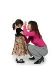 Parler à un enfant Images libres de droits