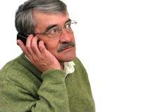 Parler aîné d'homme d'affaires Photo libre de droits