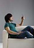 Parler au portable Photos libres de droits