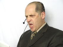 Parler au téléphone - fâché Photos libres de droits