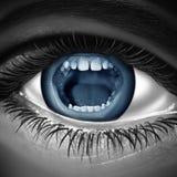 Parler avec des yeux Images libres de droits
