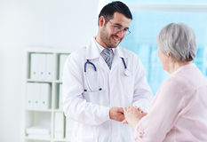 Parler avec le patient Photo stock