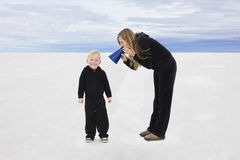 Parler avec nos enfants Image libre de droits