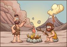 Parler d'hommes des cavernes illustration stock