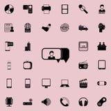parler d'une icône de fille Ensemble détaillé d'icônes minimalistic Conception graphique de la meilleure qualité Une des icônes d illustration libre de droits